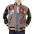 Sugarcane Philadelphia Award WV12310 Melton Wool Regular Fit Letterman Jacket for Men CANE1085