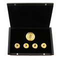 Yoropiko Copper Base Finished in 18 Carat Gold Rhodium Plated Five Button Set with Gift Box YORO2394