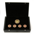 RMC Martin Ksohoh Precious Stone Ruby Blue Sapphire Custom Made Button Set in Gift Box RMC2340