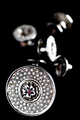 RMC Martin Ksohoh Diamond and Ruby Custom Made Button Set in Gift Box RMC2337
