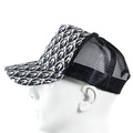 RMC Jeans Silver Embroidered Black Mesh Logo Cap for Men REDM9098
