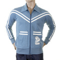 Evisu Mens Early Original Azure Blue Collared Regular Fit Zip Front Long Sleeved Retro Track Jacket EVIS0142