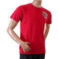Evisu Early Rare Red Cotton Crew Neck Short Sleeve Printed Logo J07 T Shirt in Red EVIS6803