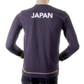 Evisu Mens Early and Genuine Ink Blue Long Sleeve Crew Neck Large Fitting Cotton T Shirt EVIS1543