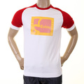 Evisu Mens Early Original White with Red Crew Neck Short Sleeve Large Fit T Shirt with Faux Kodak Print EVIS0223