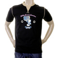 Evisu Mens Early and Genuine Black Cotton Crew Neck Short Sleeve Large Fitting 24 Hour Loom Service T shirt EVIS0276