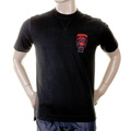 Evisu Rare Early Motor Sponsor Black Short Sleeve Larger Fitting Cotton T-shirt for Men EVIS0183