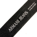 Armani Jeans black casual leather belt R6110 ZA AJM0357