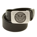 Armani Jeans black leather belt R6119 ZJ AJM0358