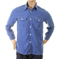 Sugar Cane shirt blue chambray SC25513 blue chambray work shirt CANE2017