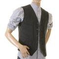 Sugarcane Striped Black Cotton SC12458 Vintage Cut Regular Fit Work Vest for Men CANE2727