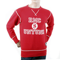 RMC Martin Ksohoh Regular Fitting RWH141263 Washed Red Crewneck Sweatshirt with Dollar UNTUNK Print REDM1033