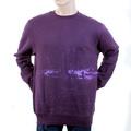 RMC Martin Ksohoh Regular Fitting RWH141162 Crew Neck Purple Sweatshirt with Toyo Story Bridge Print REDM1066
