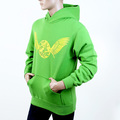 RMC Jeans RWC141264 Regular Fitting Long Sleeve Lime Green Hooded Sweatshirt with Yellow Freedom Crane Print REDM1024