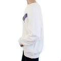 RMC Martin Ksohoh RWC141262 White Large Fit Long Sleeve Crew Neck Sweatshirt with Navy Freedom Crane Print REDM1029