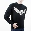 RMC Martin Ksohoh RWC141262 Black Freedom Crane Mens Long Sleeved Crew Neck Sweatshirt REDM1030