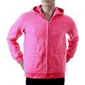 RMC Martin Ksohoh R6JKTSUNAMIE Mens Large Fit Zipped Pink Embroidered Tsunami Wave Hooded Sweatshirt REDM1047