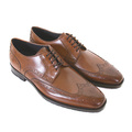 Boss Black shoes Clasto 50228276 mid brown leather Hugo Boss shoes BOSS1657