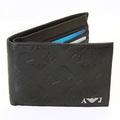 Armani Jeans black monogram logo boxed wallet  06V66 QX AJM1202