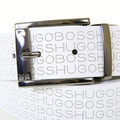 Boss Black Odilon 50235262 white leather Hugo Boss logo boxed belt BOSS2914