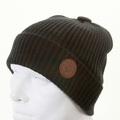 Armani Jeans black rib knit beanie hat S6404 P3 AJM1340