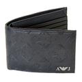 Armani Jeans mens blue monogram logo boxed wallet  06V66 QX AJM0470