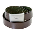 Armani Jeans mens fully reversable T6196 UC green leather belt AJM0483