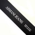 Armani Jeans mens black leather 06V01 80 casual belt AJM2481