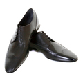 Hugo Boss Black Label mens Frano 50244405 black leather brogue shoes BOSS1915