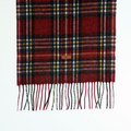 Fred Perry mens red C3214 knitted tartan scarf FPRY3067