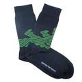 Emporio Armani mens navy logo 301002 3A745 socks EAM2545