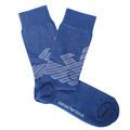Emporio Armani mens royal blue logo 301002 3A745 socks EAM2544