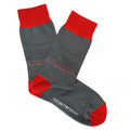 Emporio Armani mens grey striped 301002 3A283 socks EAM2552