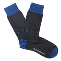 Emporio Armani mens black striped 301002 3A283 socks EAM2551