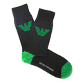 Emporio Armani mens black logo 269304002 socks EAM1621