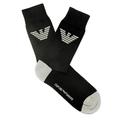 Emporio Armani mens black logo 269304002 socks EAM1620