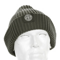 Stone Island mens grey rib knit 5915N09C6 beanie hat SI3015