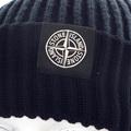 Stone Island mens navy rib knit 6115N09C6 beanie hat SI3016