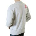Ijin mens marl grey standard label crew neck sweatshirt IJIN2360