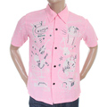 Sun Surf Special Edition Mens SS36209 Pink Regular Fit Short Sleeve Vince Ray Keoni of Hawaii Shirt SURF3319