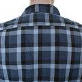 Vivienne Westwood Anglomania mens LV13GBUN blue check military shirt VWST2687