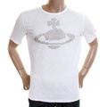 Vivienne Westwood Anglomania mens LV97BA12 white studded t shirt VWST2678