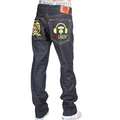 RMC X 4A Version 5 1001 Model Gold Embroidered Like Black Monster Rider FM Union Indigo Raw Denim Jeans RMC1939