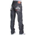 RMC X 4A Version 5 Model 1001 Embroidered Black Monster Rider FM Union Indigo Raw Denim Jeans for Men RMC1940
