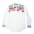 Yoropiko White Soft Pointed Collar Regular Fit Mens Long Sleeve Shirt YORO0261