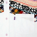 Yoropiko Diamond Jacquard Pick and White Soft Collar Printed Mens Long Sleeve Shirt YORO0264A