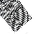 Yoropiko Black and White Mens Soft Collar Regular Fit Long Sleeve Shirt with Dog Tooth Check YORO0267