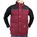 Carhartt mens cranberry with black 1015465 1 Douglas padded gillet CARH3163