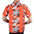 Sun Surf Mens SS36430 Regular Fit Cuban Collar Short Sleeve Red Rayon Hawaiian Elsies Flower Shirt SURF4299