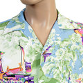 Sun Surf Mens Blue SS36431 Printed Gion Matsuri Rayon Regular Fit Cuban Collar Short Sleeve Hawaiian Shirt SURF4301